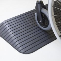 Rampe de seuil handicapé caoutchouc