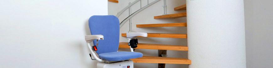 si ge monte escalier tournant tec access. Black Bedroom Furniture Sets. Home Design Ideas